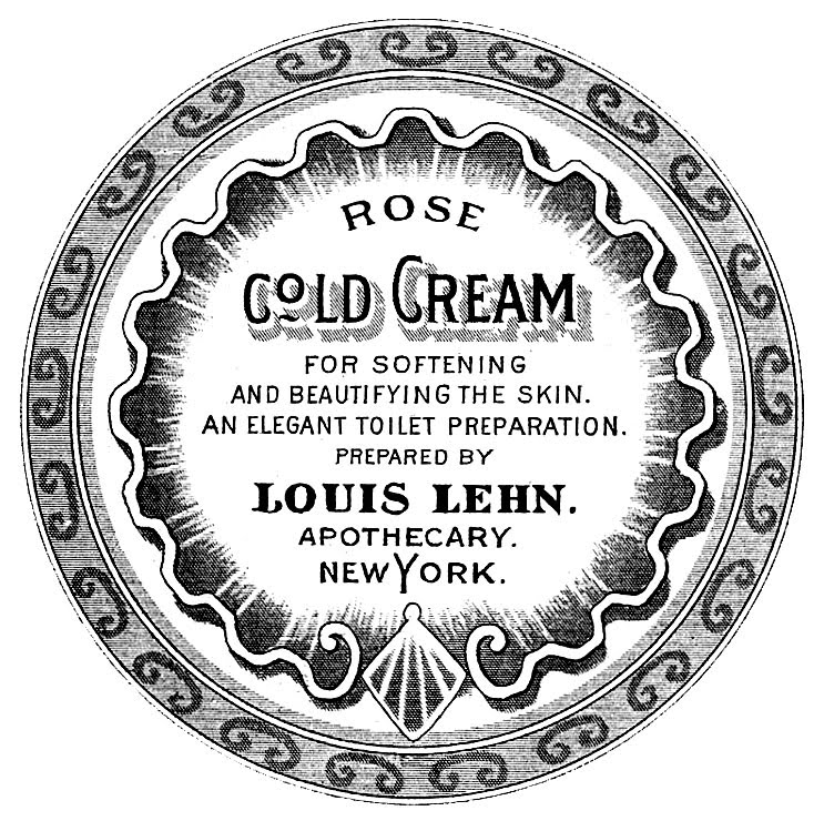 antique labels apothecary beauty cream the graphics