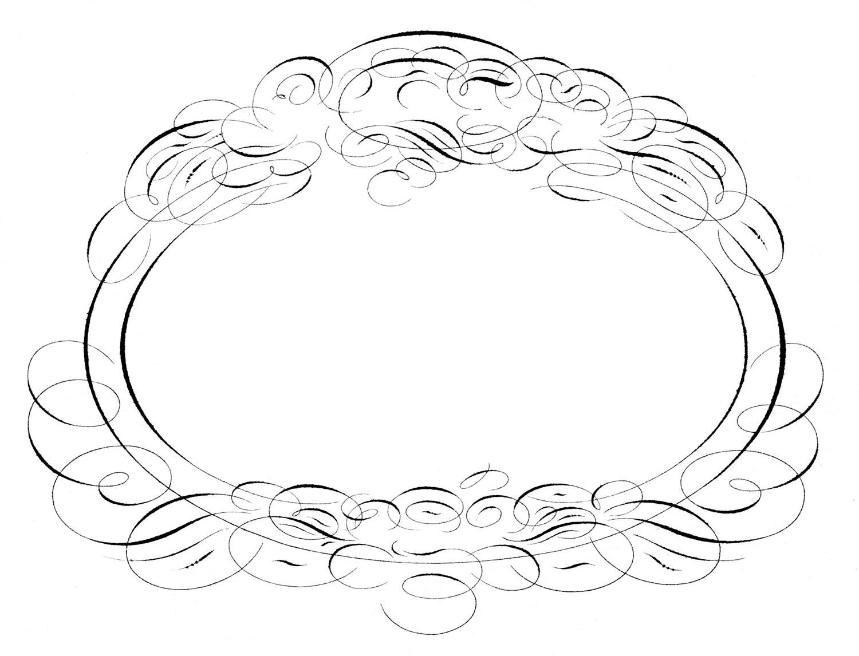 antique ephemera gorgeous spencerian frame wedding the on wedding frame card