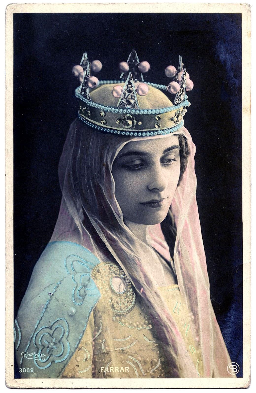 Vintage Paintings Of Women Vintage Graphic...