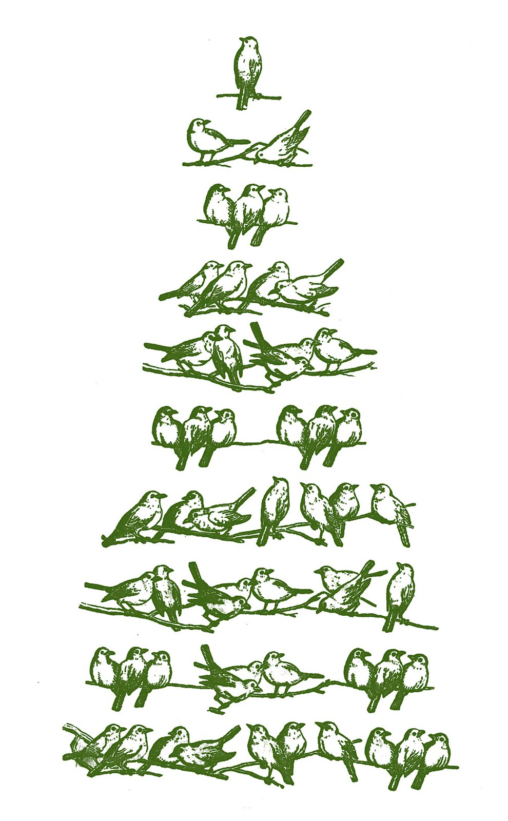 Vintage Christmas Clip Art - Bird Tree - The Graphics Fairy