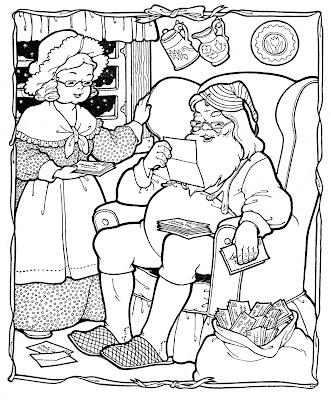 kids printable  santa coloring page  christmas  the graphics fairy