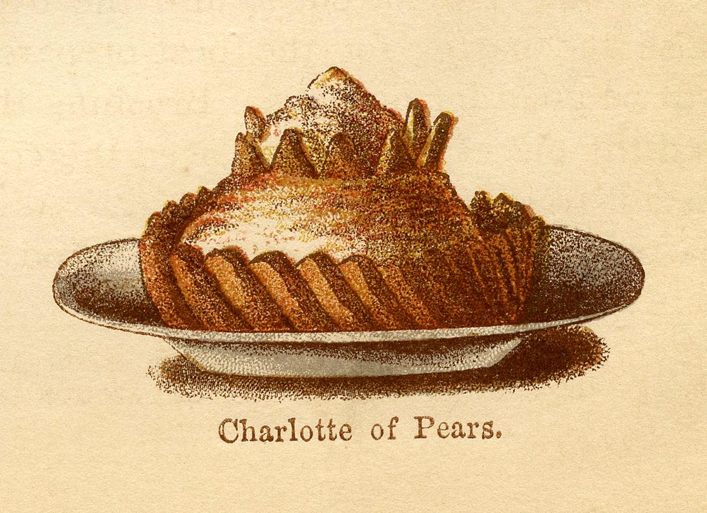 Victorian Image Sweet Treat Fancy Dessert The