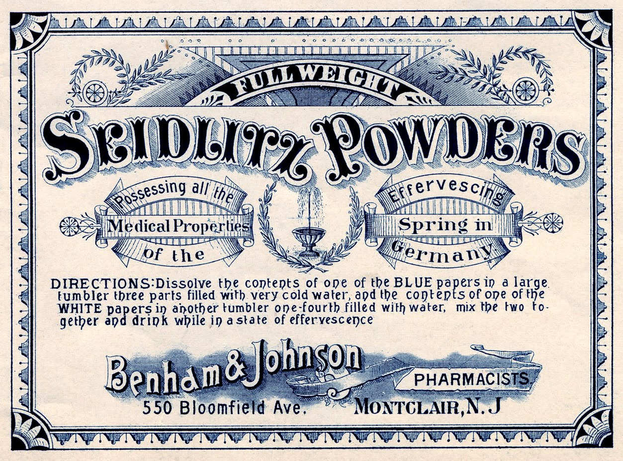 Vintage Clip Art Apothecary Label Medical The