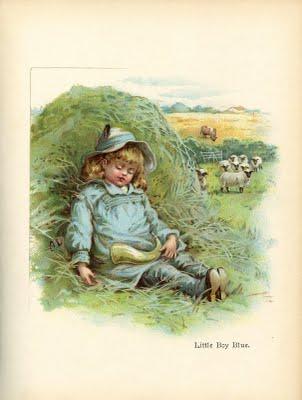 Vintage Printable Art - Little Boy Blue - The Graphics Fairy