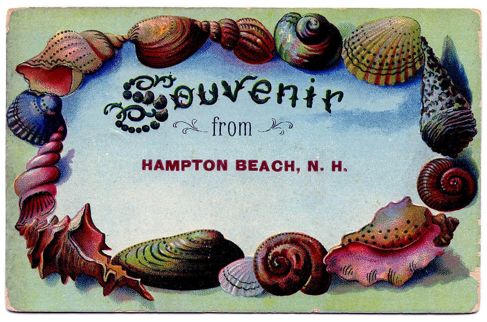 Free Vintage Clip Art Postcards