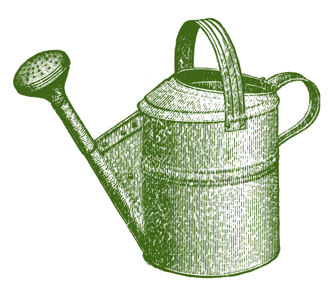 Vintage Garden Clip Art - Classic Watering Can - The Graphics Fairy: thegraphicsfairy.com/vintage-garden-clip-art-classic-watering-can