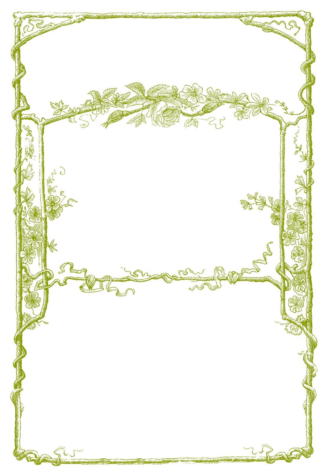 Vintage Clip Art - Amazing Faux Bois Frames - The Graphics Fairy
