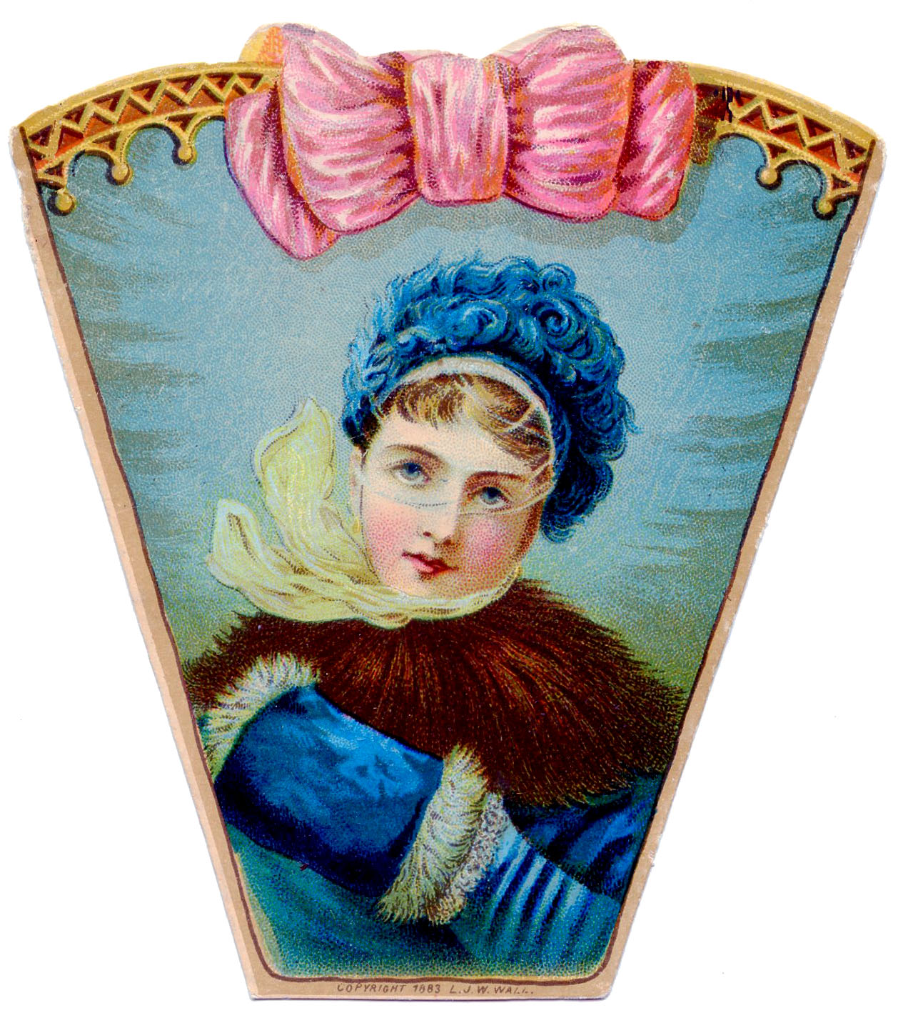 Vintage Clip Art - Victorian Lady in Winter - The Graphics ...