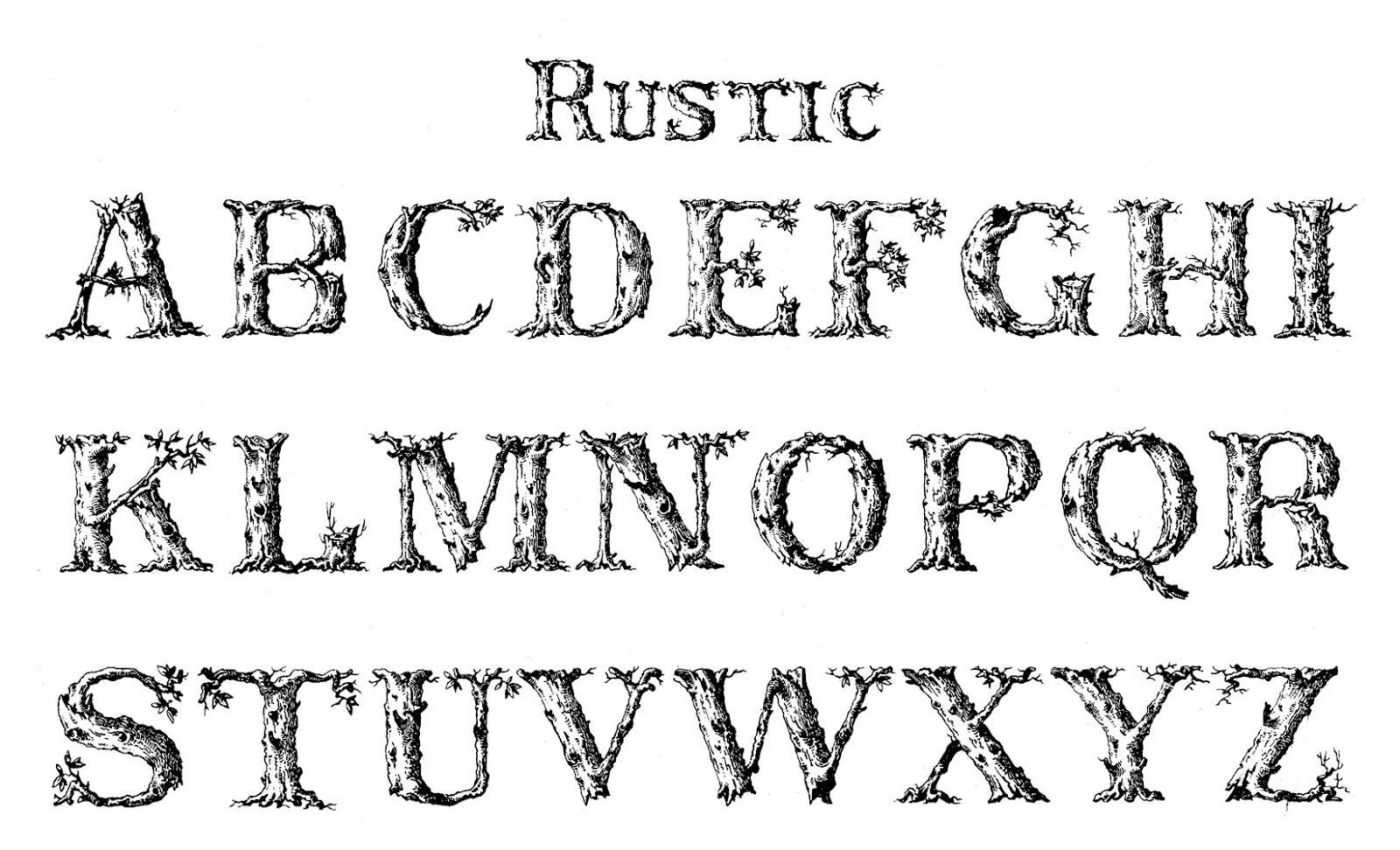 Vintage Typography Rustic The Graphics Fairy