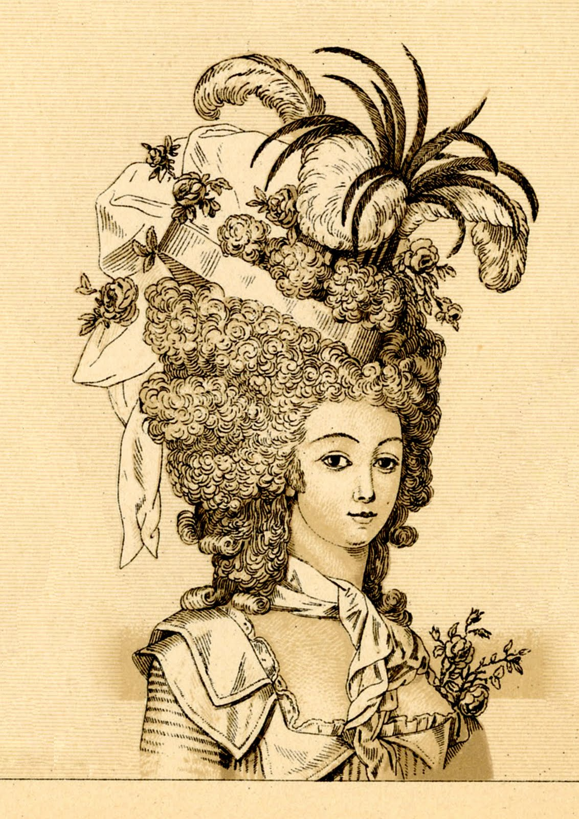 Vintage clip art marie antoinette ish the graphics fairy - Retro vintage ...