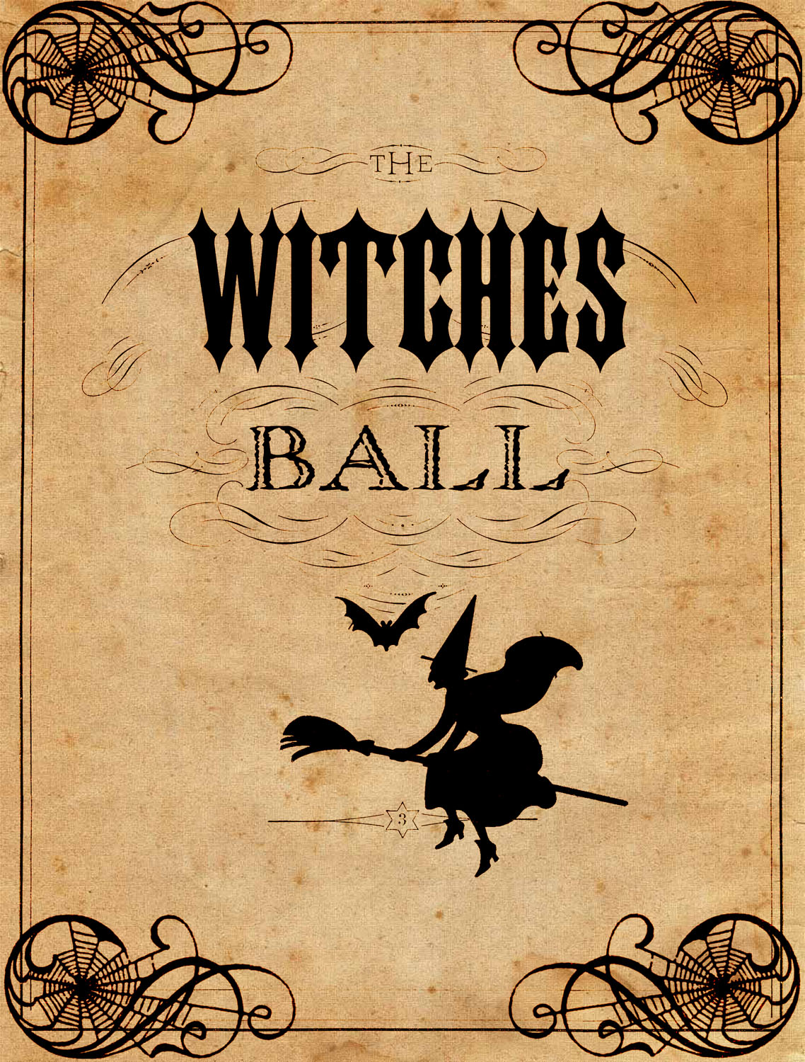 photo regarding Halloween Printable identified as Common Halloween Printable - The Witches Ball - The