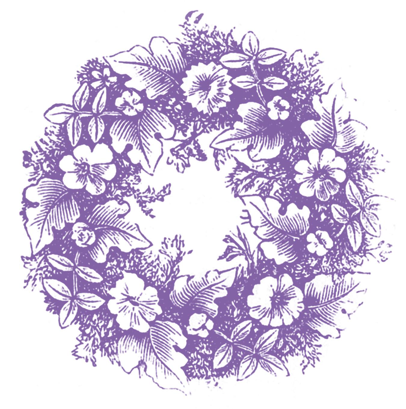 Vintage Clip Art Floral Wreaths The Graphics Fairy