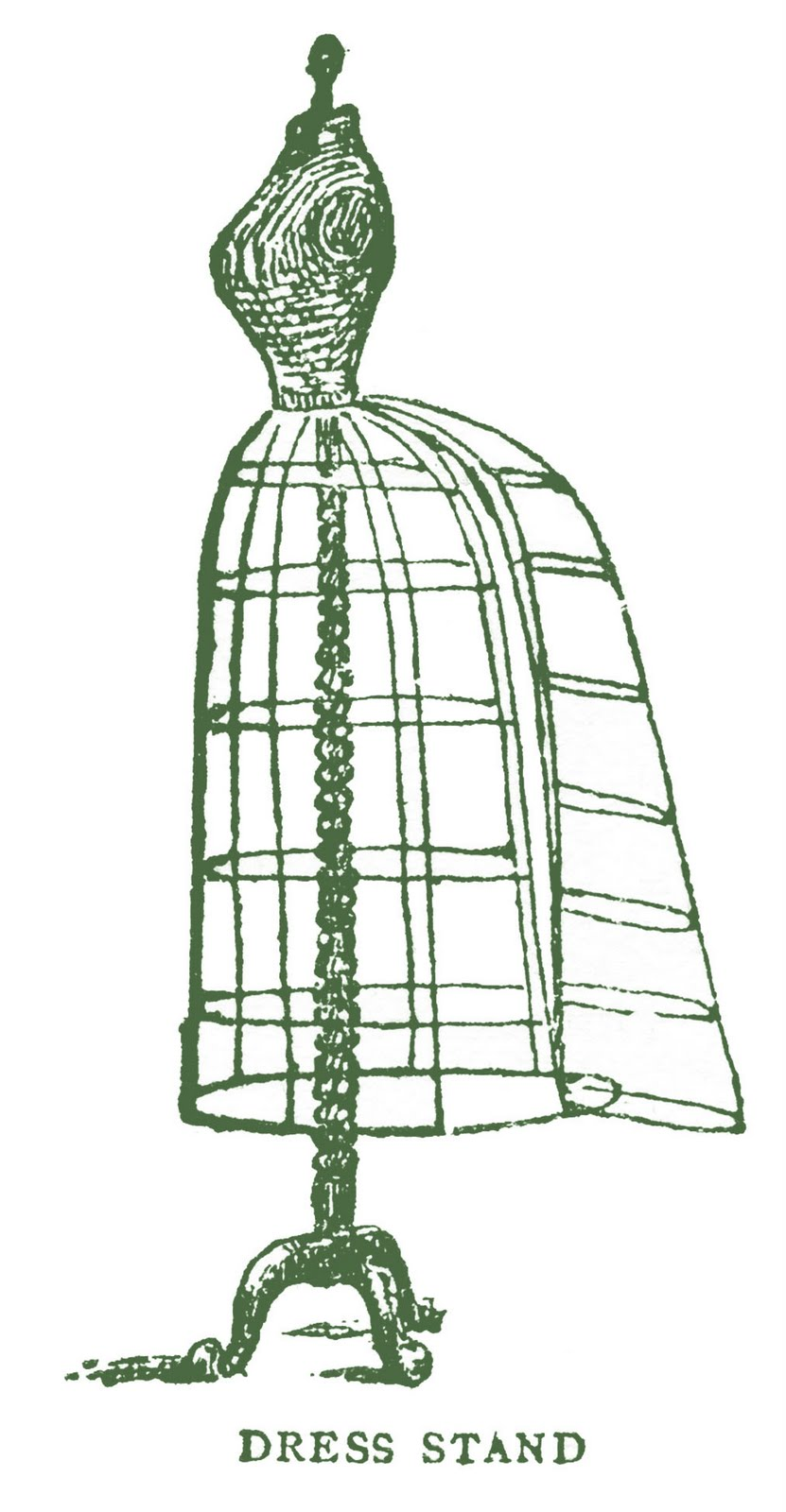 Vintage Images - Antique Wire Dress Form with Bustle - The ...
