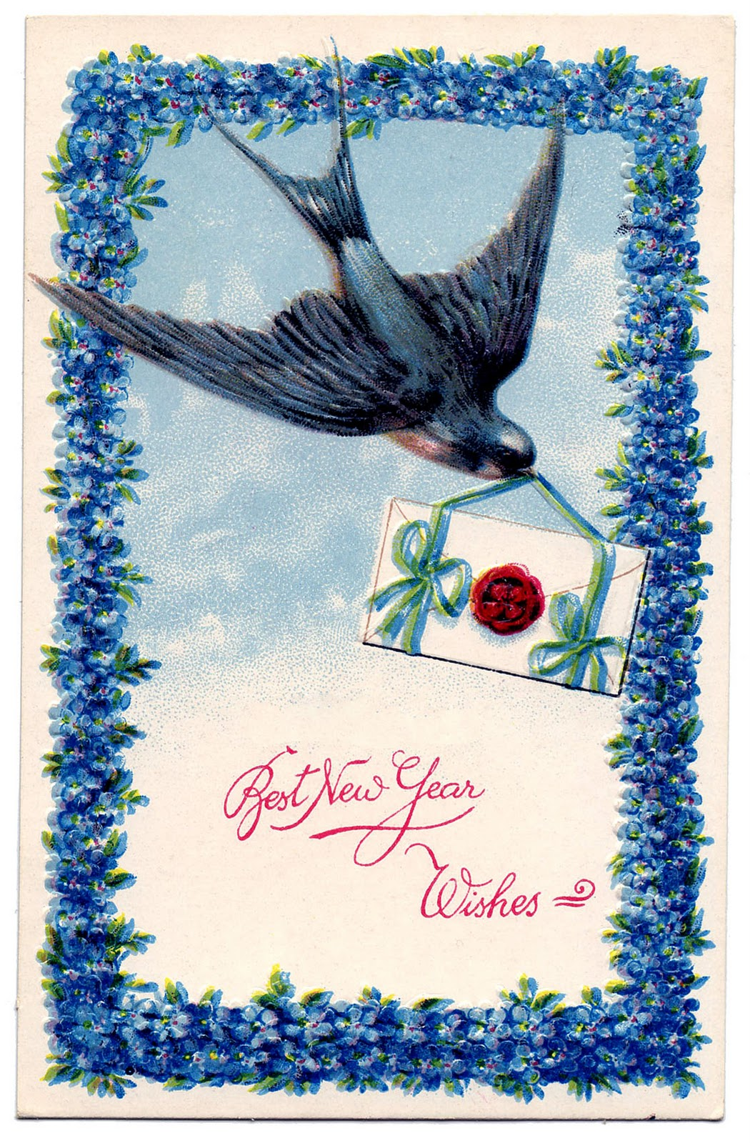 Vintage Clip Art - New Years Bird - Jewish Option - The ...