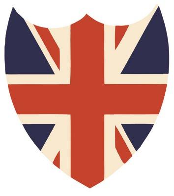Union Jack Shield Shaped Printable