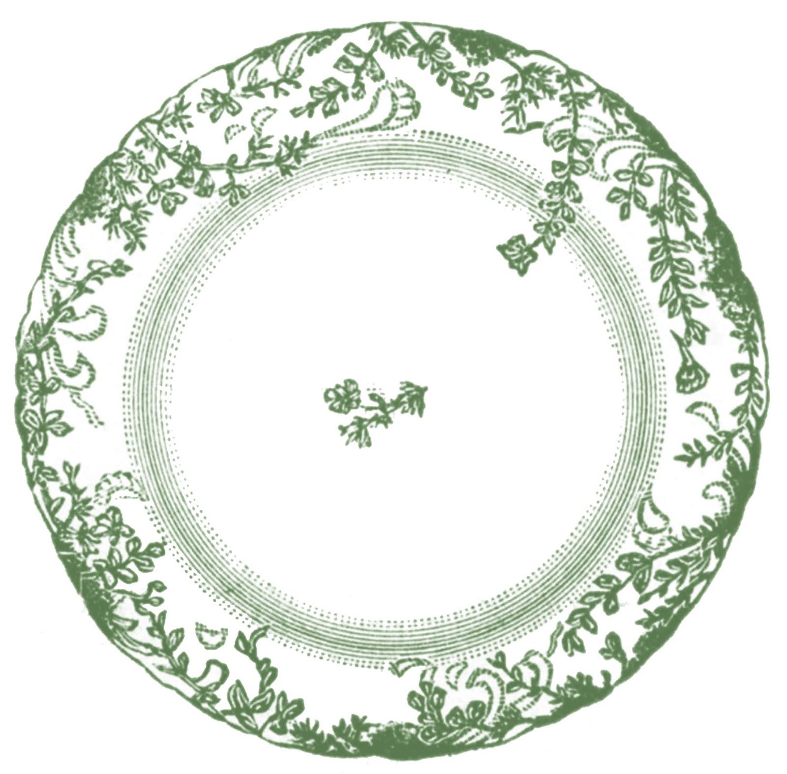 Vintage Clip Art - Antique China Plate - 4 Options - The Graphics ...: thegraphicsfairy.com/vintage-clip-art-antique-china-plate-4-options