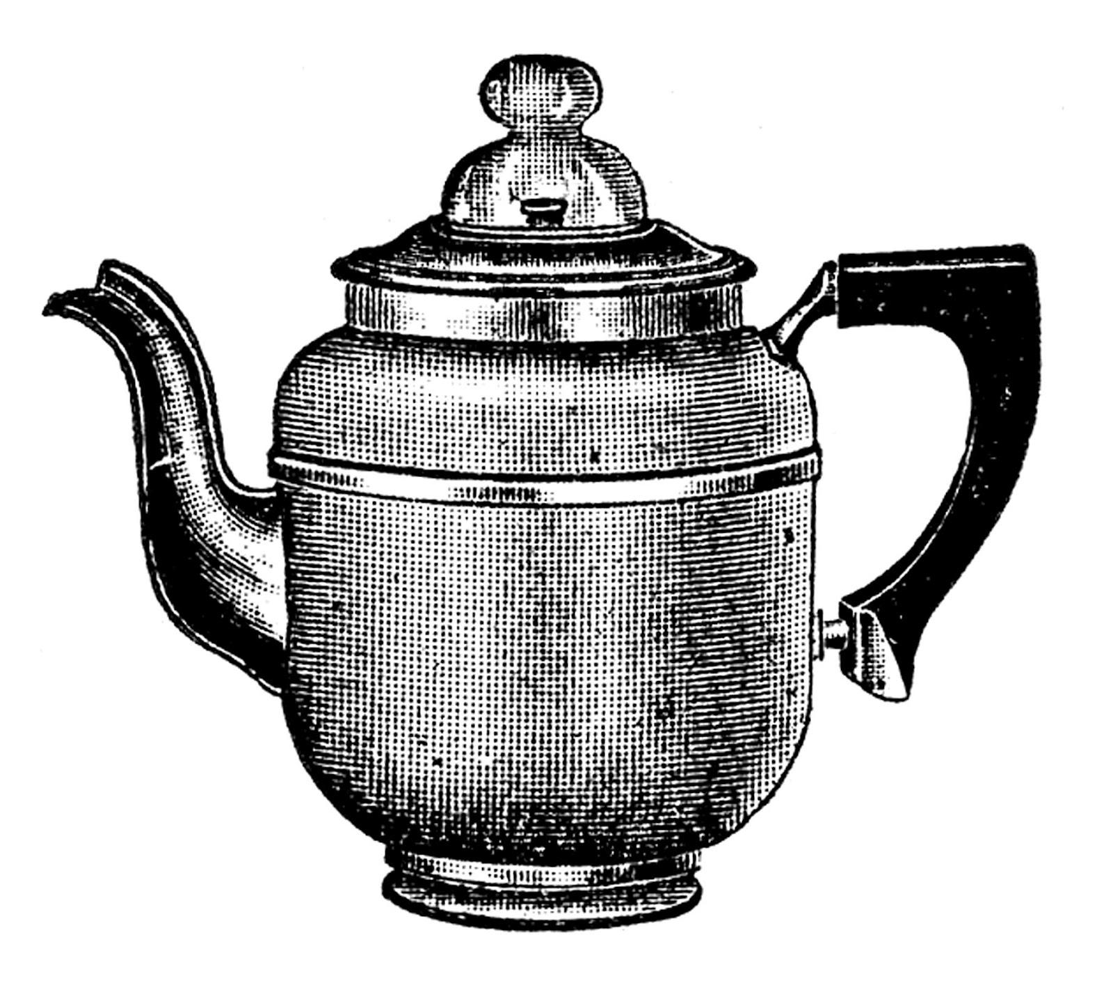 Kettle Clip Art ~ Vintage kitchen clip art tea kettle and coffee pots