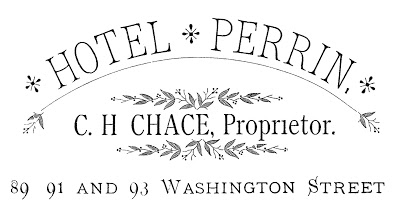 Typography Iron On Transfer Hotel Sign