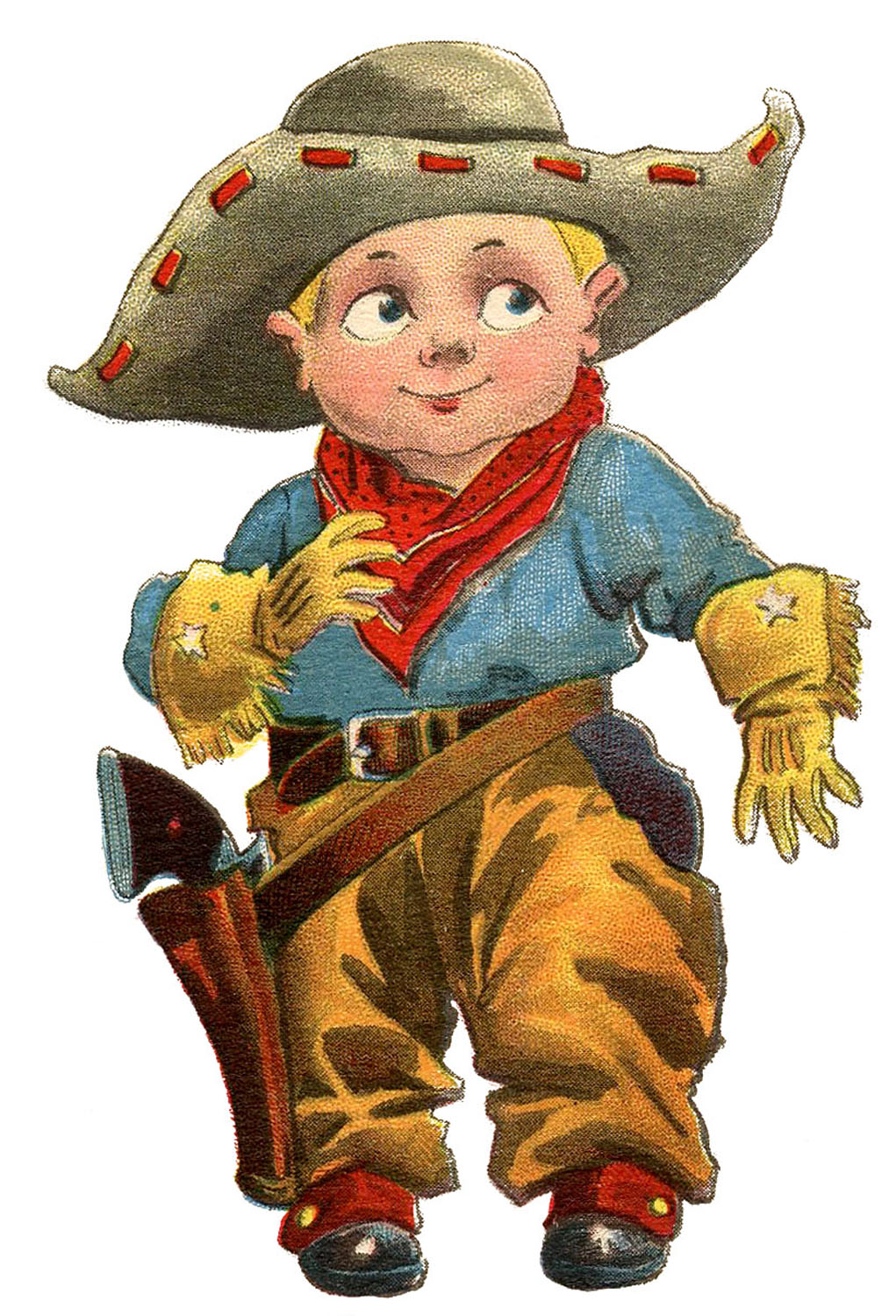 Cowboy Clip Art Image little blond boy dressed as a cowboy in a ...