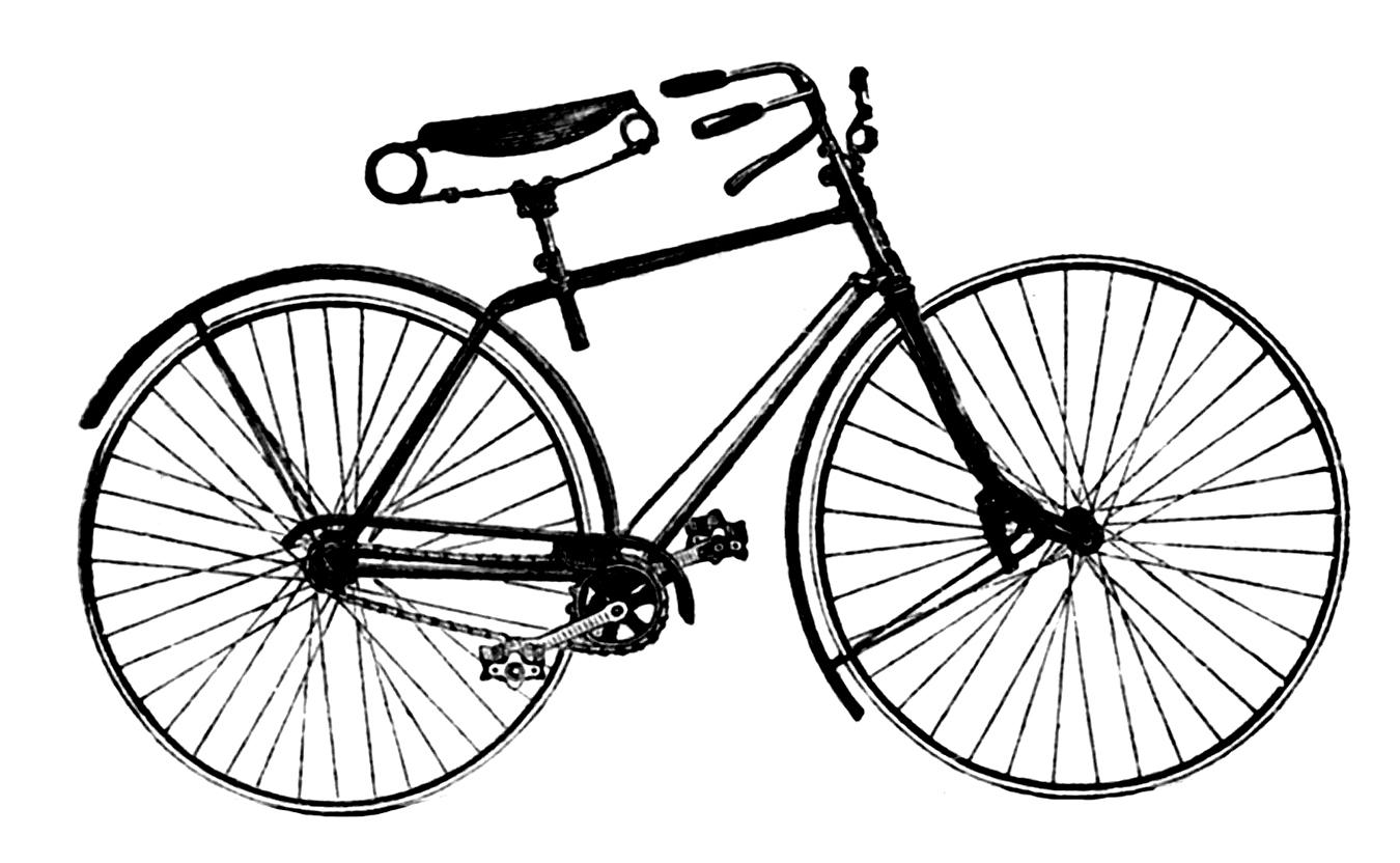 Vintage Bicycle Clip Art 69