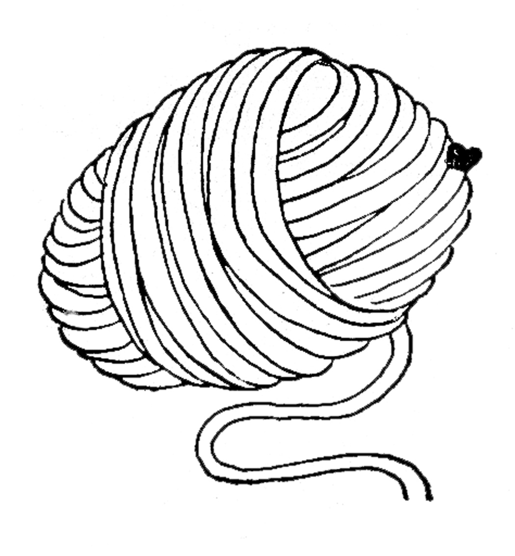 Yarn Ball Coloring Coloring Pages