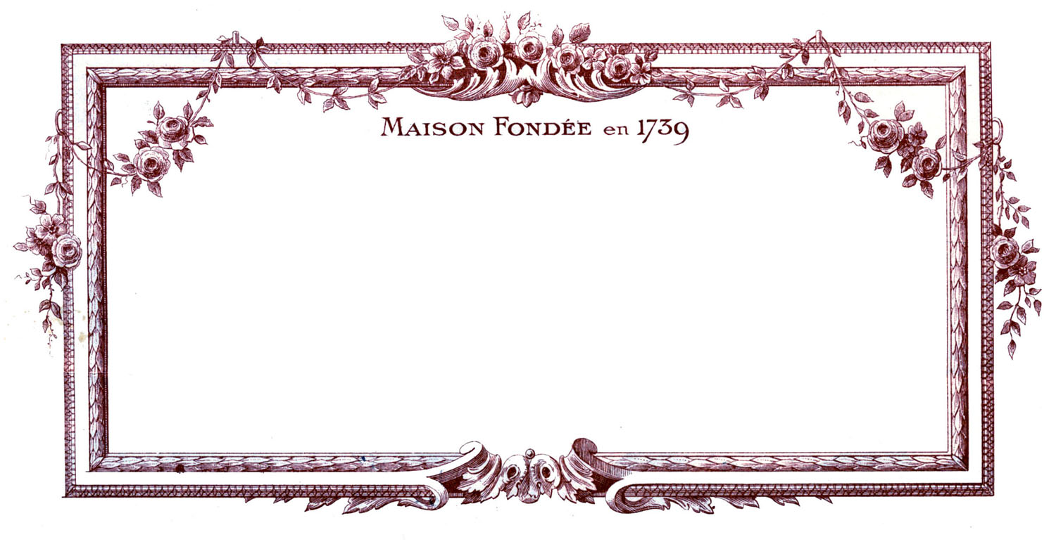 Glasses Frame In French : Vintage Clip Art - Beautiful French Frames - The Graphics ...