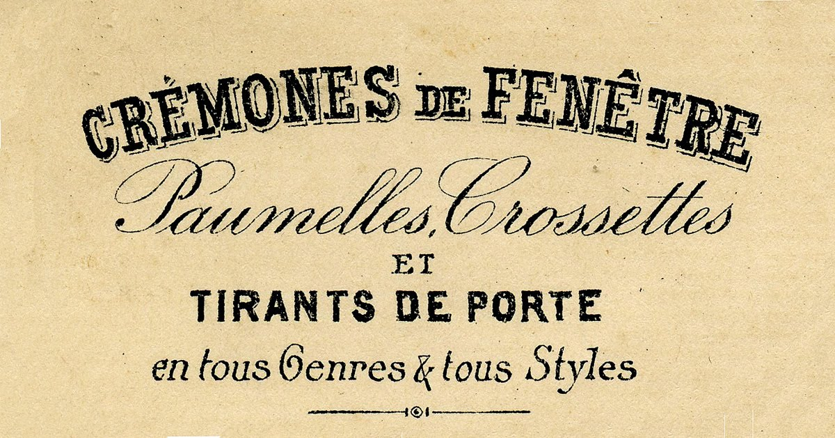 Vintage Clip Art Beautiful French Typography The