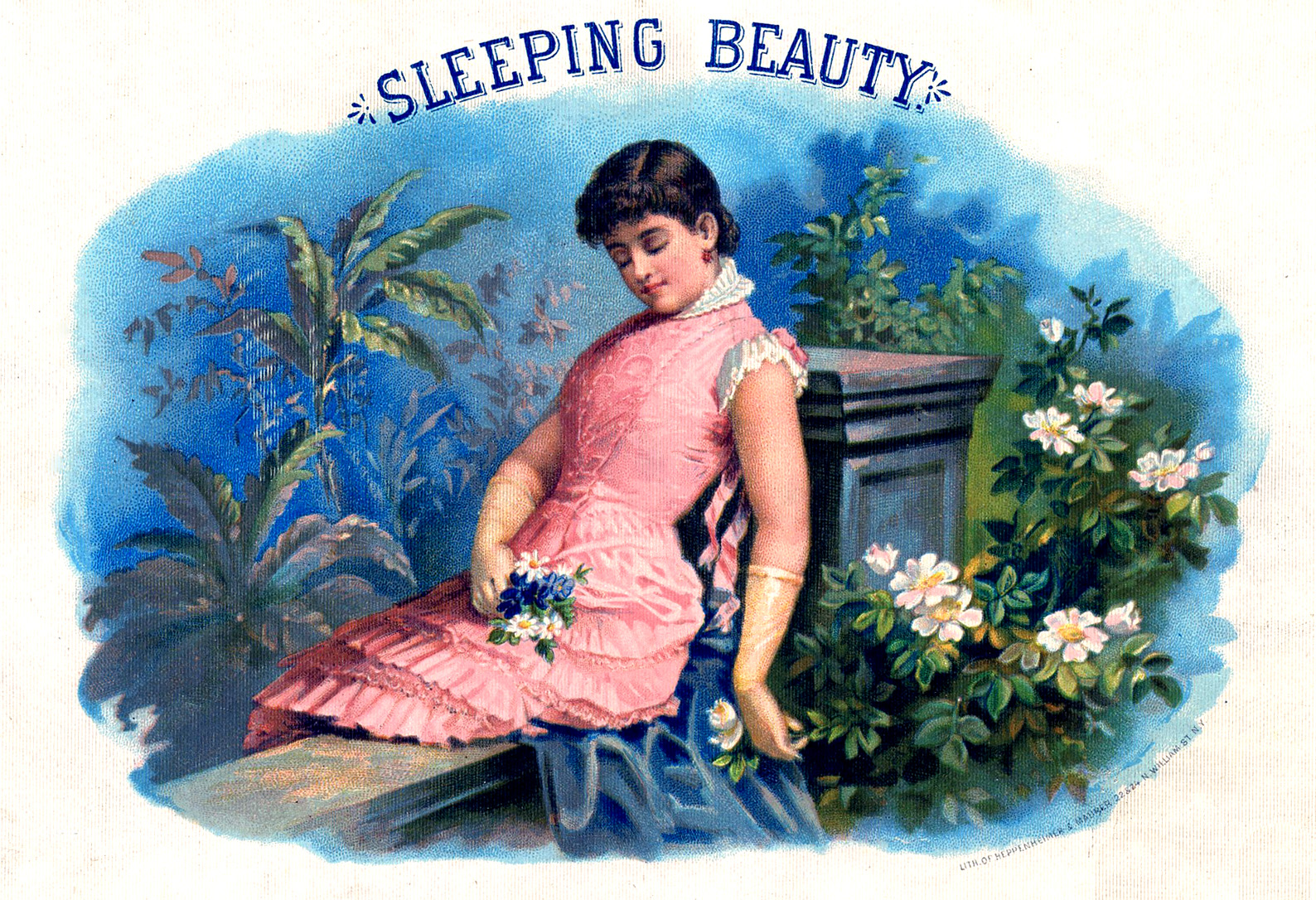 vintage graphic sleeping beauty the graphics fairy