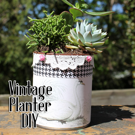 Upcycle a Tin Can into a Pretty Planter