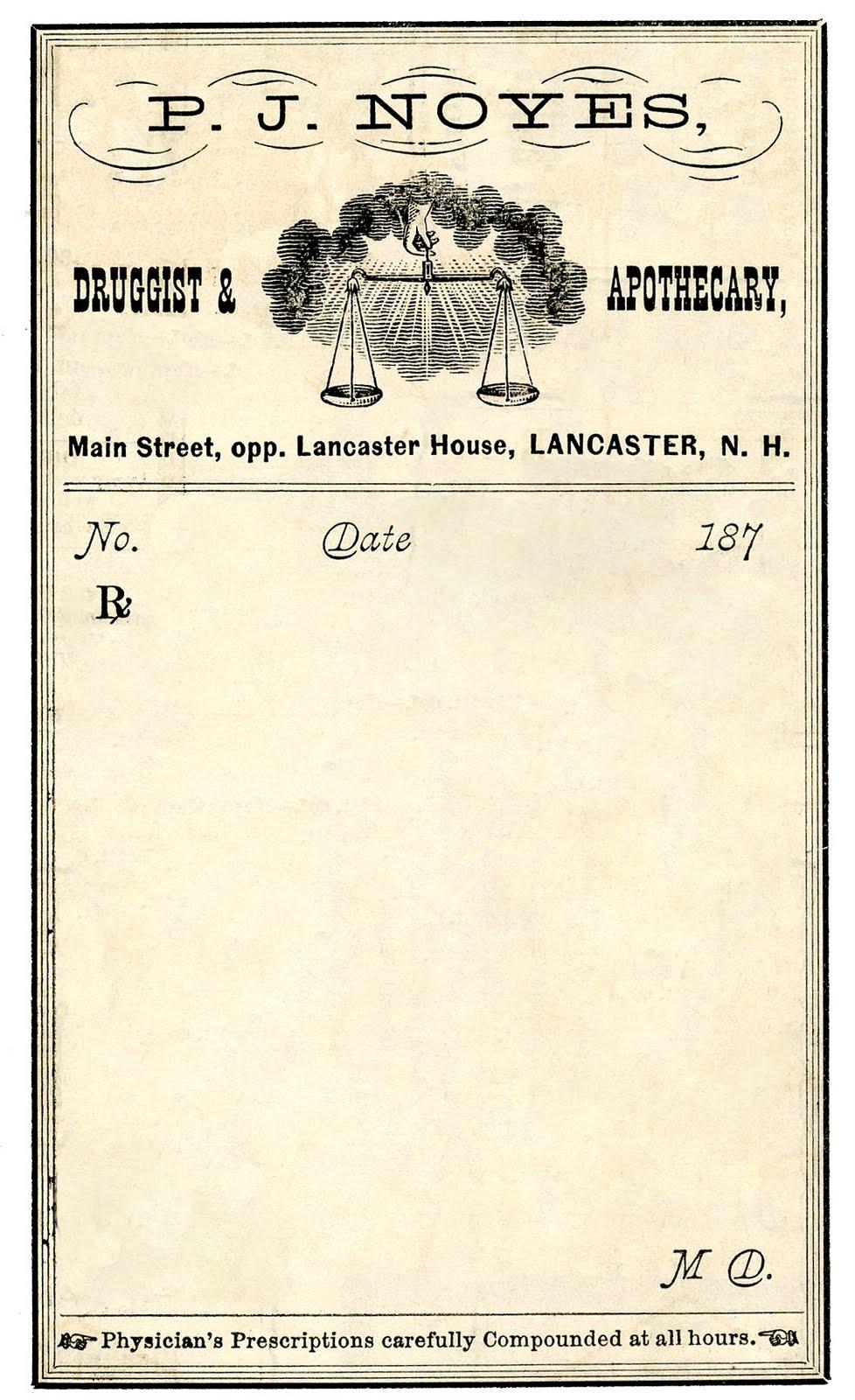 Vintage Clip Art Antique Druggist Label The Graphics Fairy