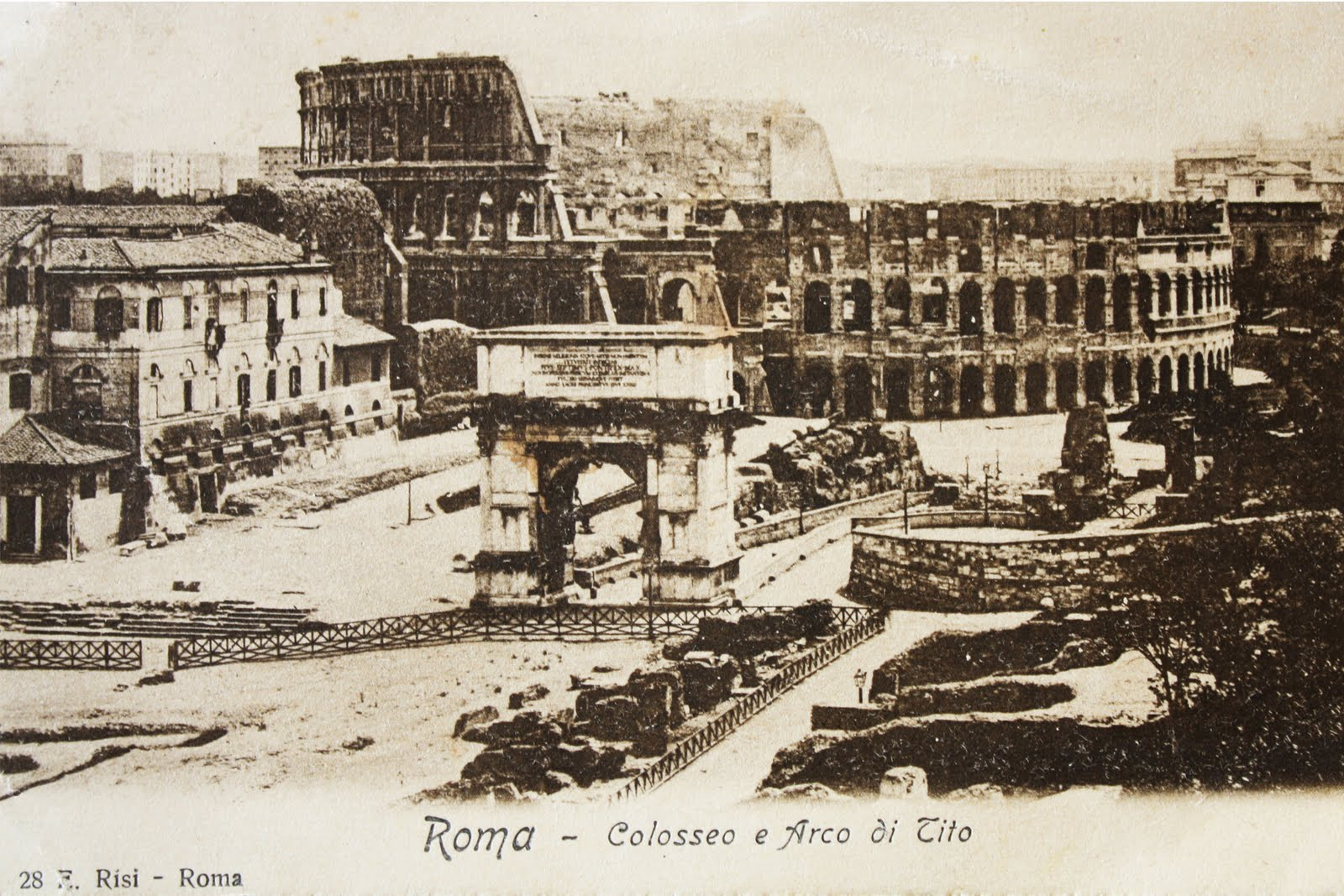 Old Photo Postcard Rome Stamp The Graphics Fairy