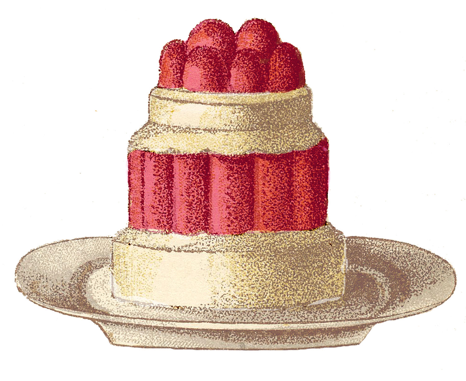 Vintage Clip Art - French Desserts - The Graphics Fairy