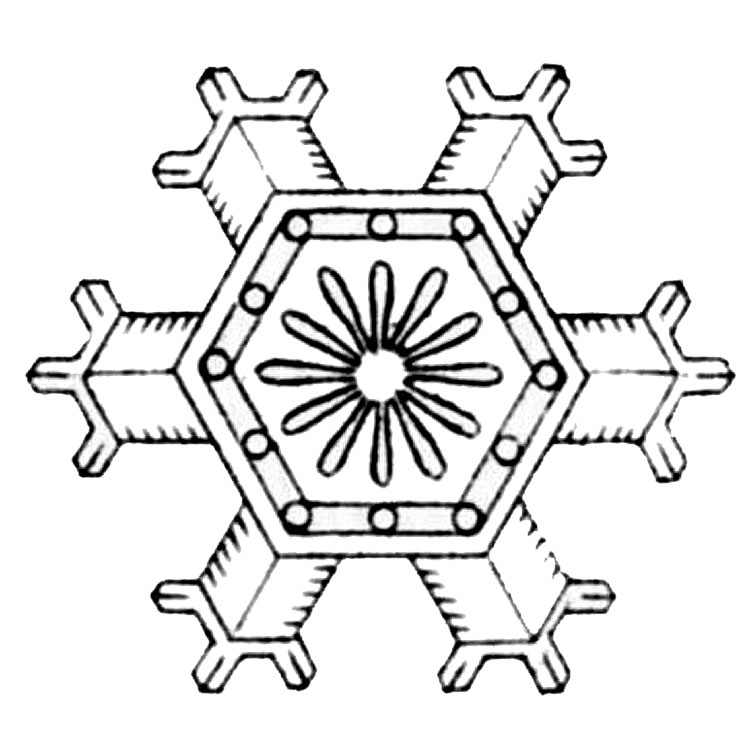 Vintage Winter Clip Art More Lovely Snowflakes