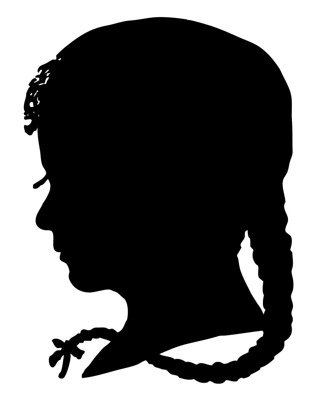 vintage clip art silhouette boy girl the graphics fairy rh thegraphicsfairy com clipart of a girl thinking clip art of a girl in a beauty pageant