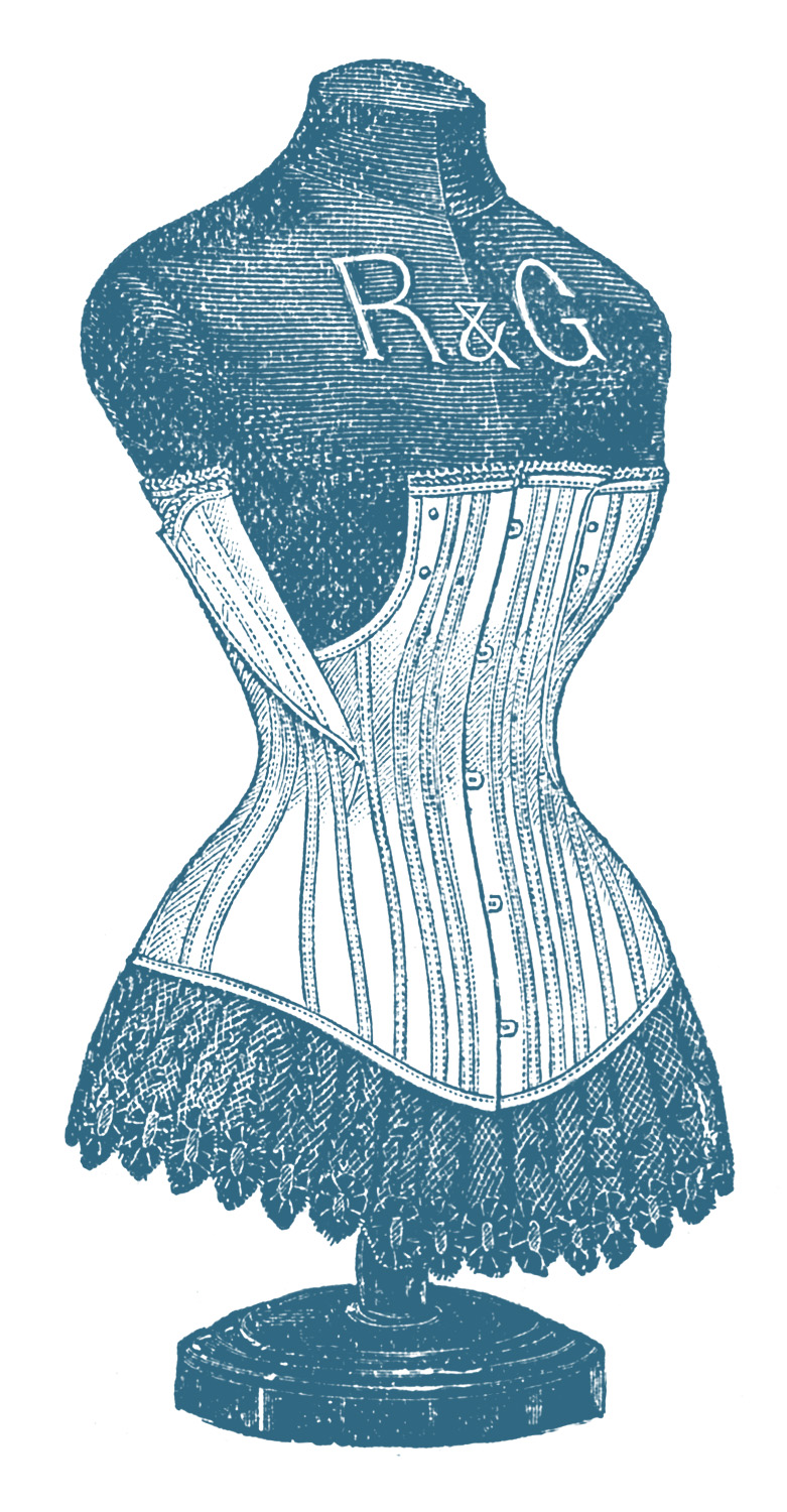 Victorian Graphic - Dress Form with Corset - The Graphics ...