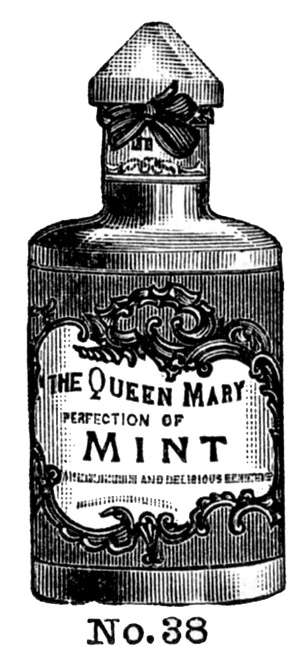 Vintage Clip Art - Fancy Cosmetic Bottles