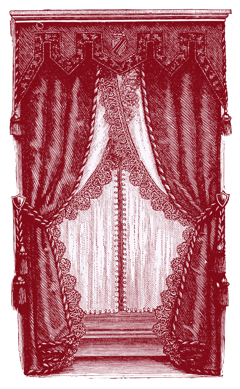 ... Clip Art - Fancy Victorian Curtains -Draperies - The Graphics Fairy