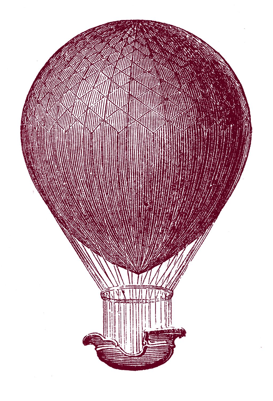 Steampunk Clip Art Hot Air Balloons The Graphics Fairy