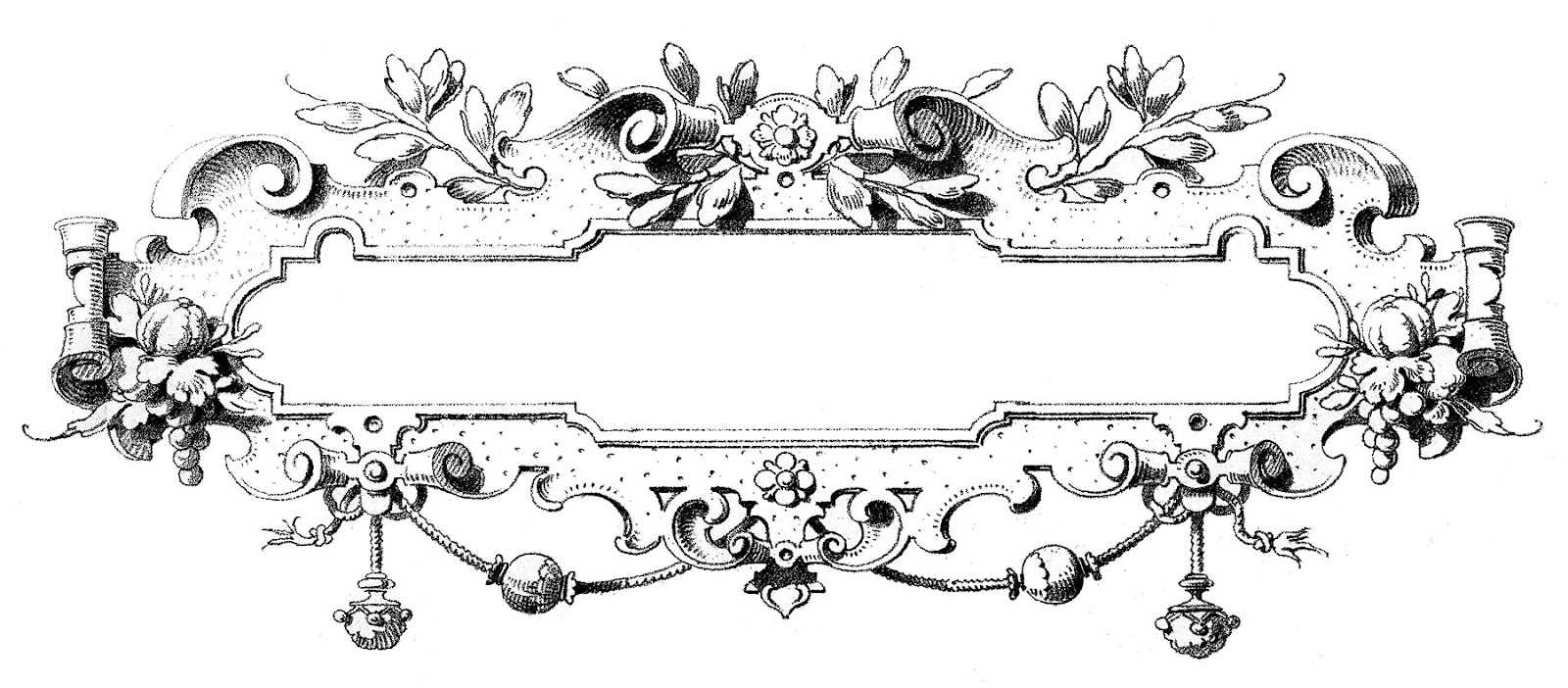 Vintage Clip Art - Gorgeous Ornate Frames - The Graphics Fairy