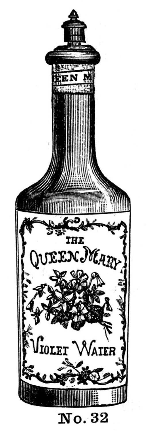 Vintage Clip Art - Old Fashioned Perfume Bottles - The ...