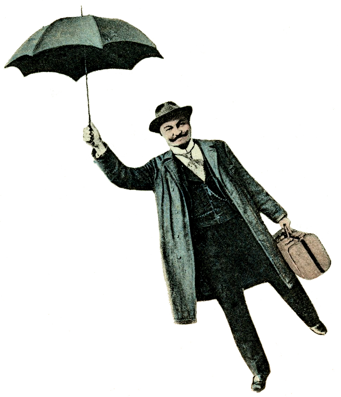 Patio Umbrella Flying Away: Flying Man With Umberella