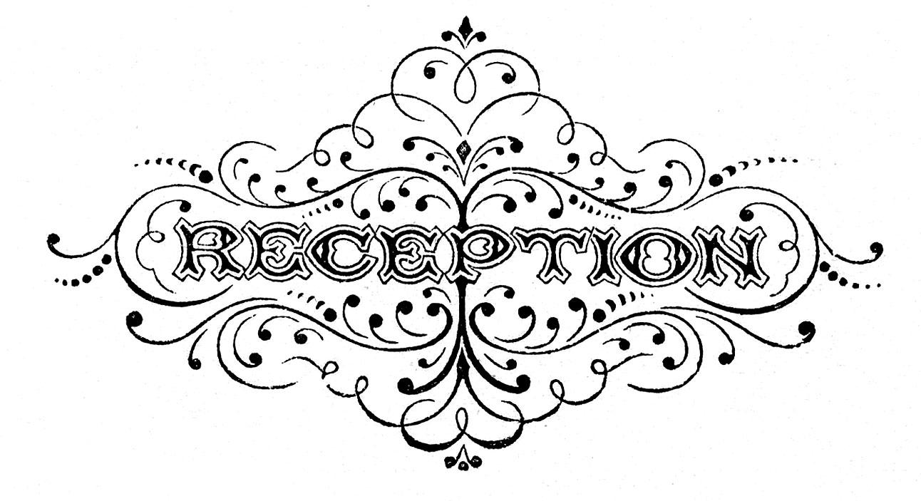 Vintage Black and White Clip Art - Wedding Typography ...