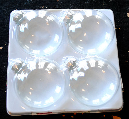 Clear Glass Ball Ornaments with flat sides
