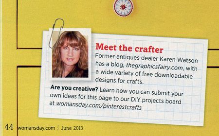 Featured in Woman's Day this Month! - The Graphics Fairy