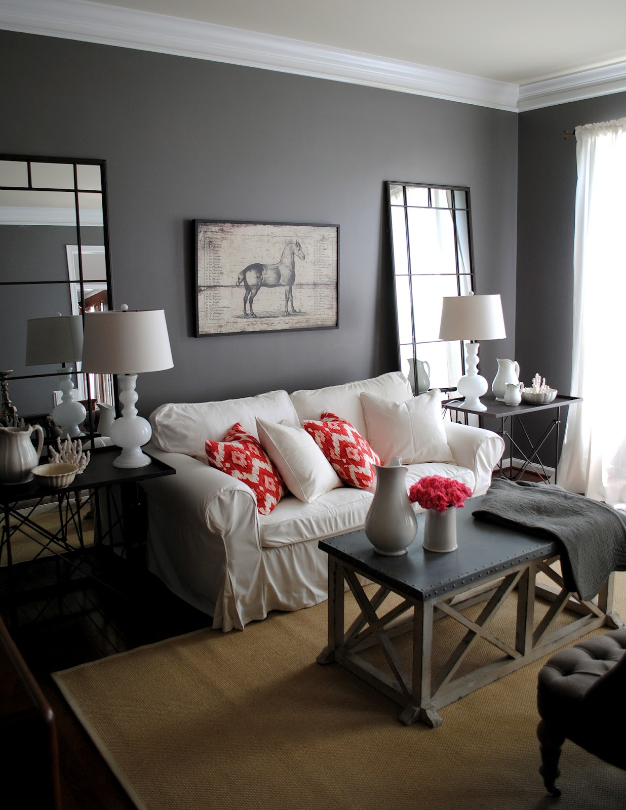 may recall that i selected sherwin williams gauntlet gray for my walls