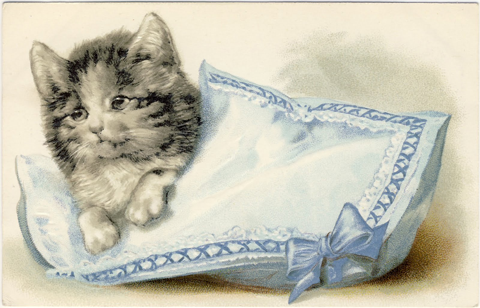 Vintage Clip Art - Adorable Cats - Kittens - The Graphics Fairy