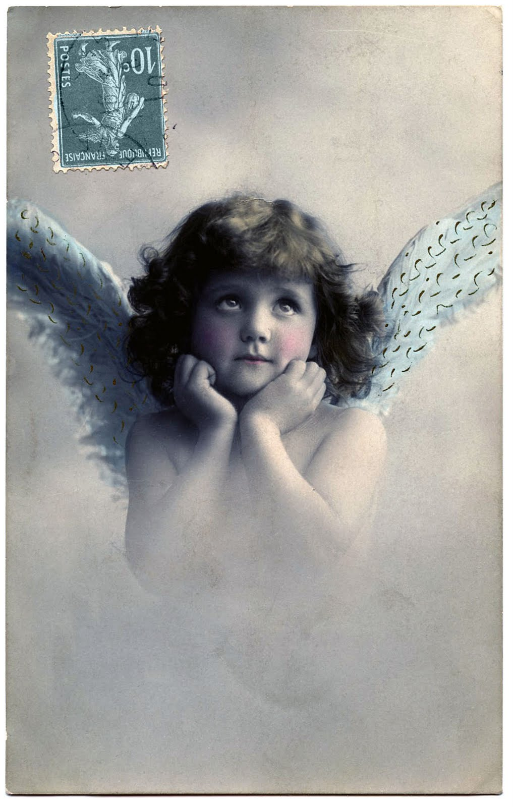 Vintage Image - Best Little Angel Girl - Old Photo - The ...