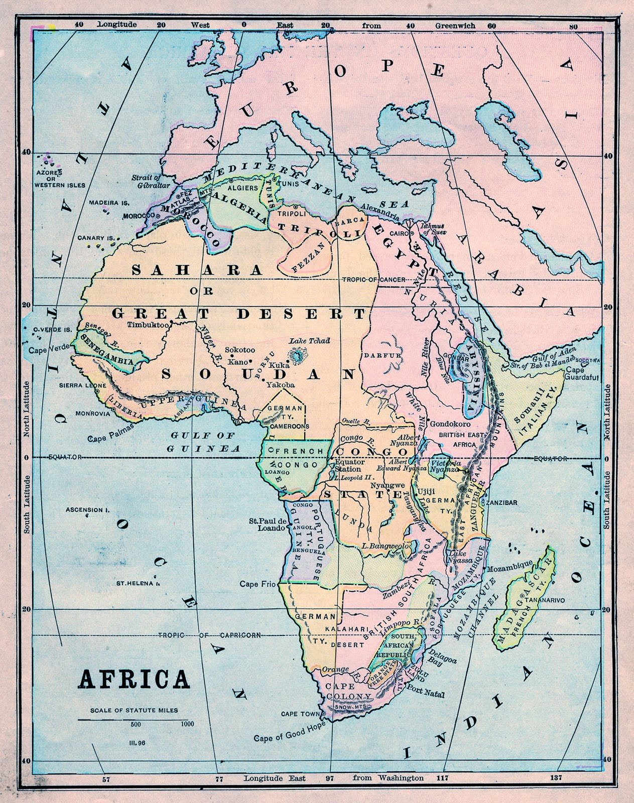 Map Of Africa 1890 Thursday is Request Day   Map of Africa, Steampunk Globe