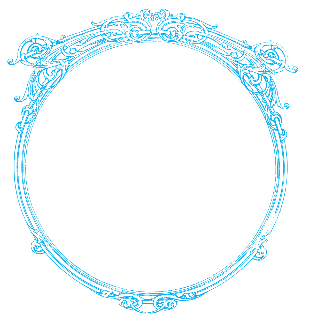 Vintage Images - Round Ornate Frames - The Graphics Fairy
