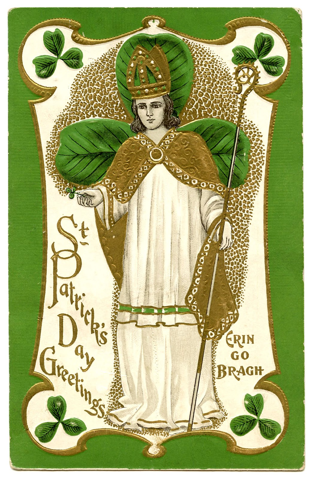 Pics Photos - Clip Art Of A Vintage St Patricks Day Little Girl Card